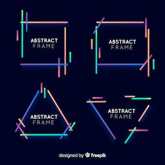 Conjunto de molduras coloridas geométricas