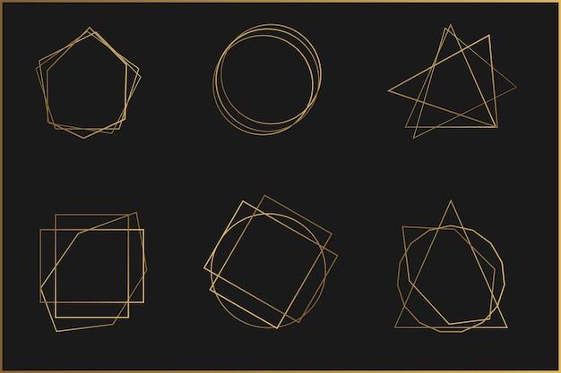 Conjunto de molduras de elementos de design de cristal brilhante