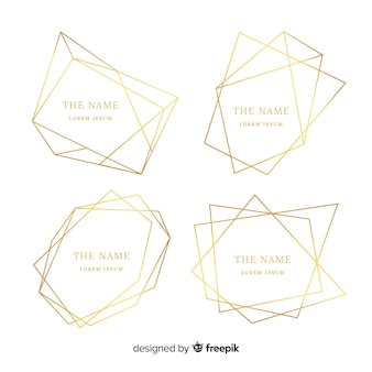 Conjunto de molduras douradas