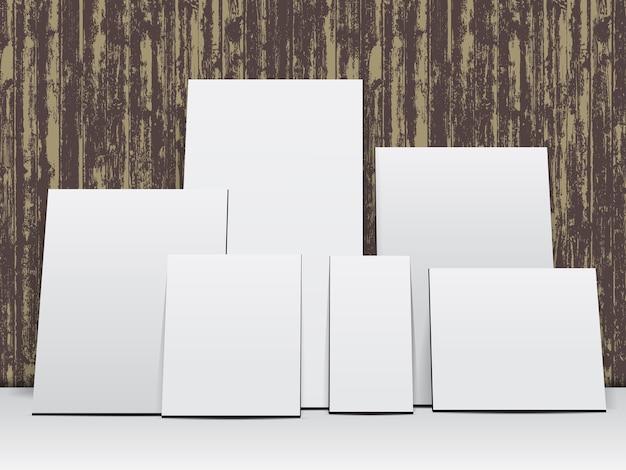 Conjunto de molduras em branco branco