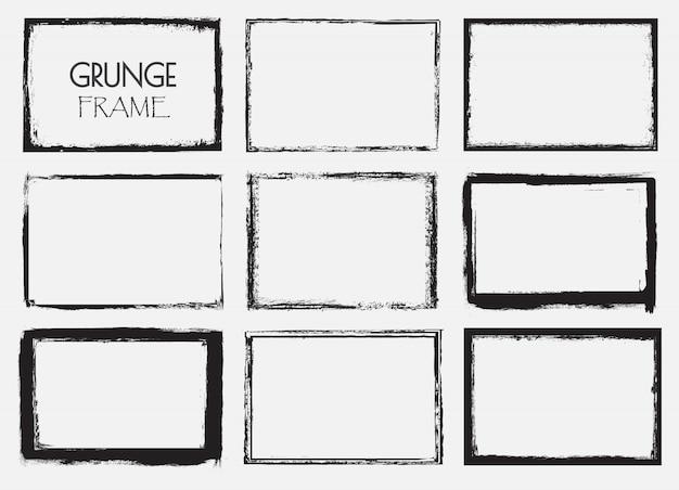 Conjunto de molduras grunge