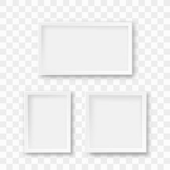 Conjunto de molduras isoladas em transparente