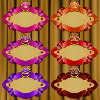Conjunto de molduras ornamentadas