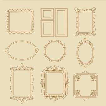 Conjunto de molduras ornamentais decorativas