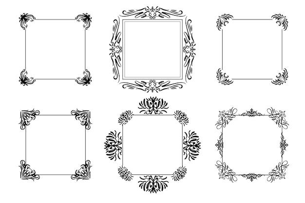 Conjunto de molduras ornamentais vintage