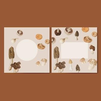 Conjunto de molduras para design de cogumelos