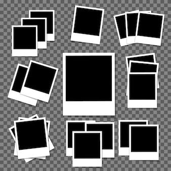 Conjunto de molduras para fotos em branco vintage