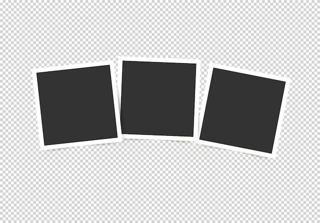 Conjunto de molduras para fotos. maquete para suas fotos isoladas