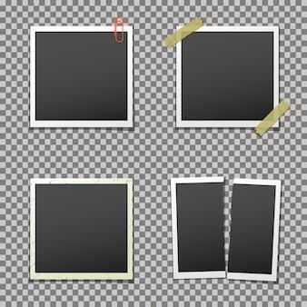 Conjunto de molduras vazias. modelos de moldura de foto retrô.