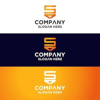 Conjunto de monograma logo premium