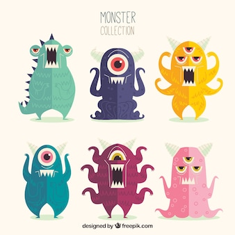 Conjunto de monstro bonito