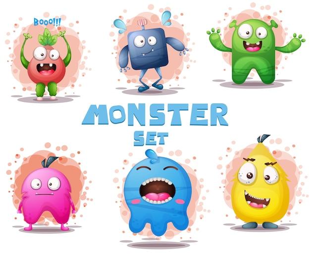 Conjunto de monstro fofo