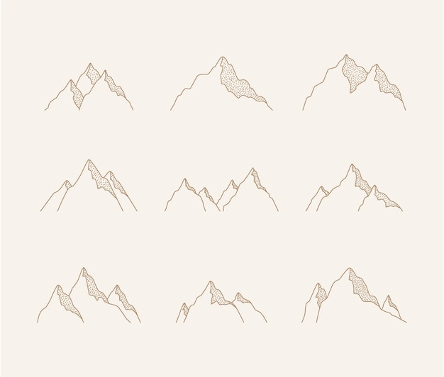 Conjunto de montanhas.