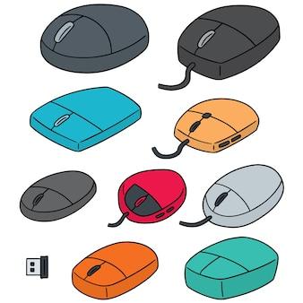 Conjunto de mouse de computador