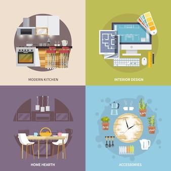 Conjunto de móveis de cozinha