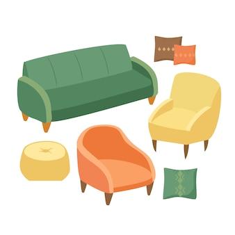 Conjunto de móveis macios