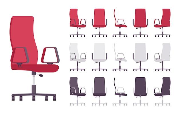 Conjunto de móveis para cadeira de escritório executivo