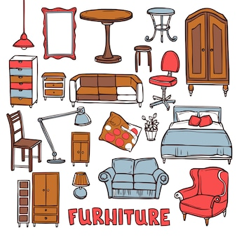 Conjunto de móveis para casa