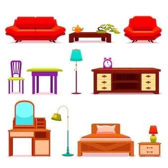 Conjunto de móveis para hotéis