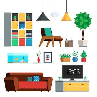 Conjunto de móveis para interiores