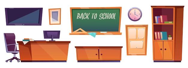 Conjunto de móveis para sala de aula