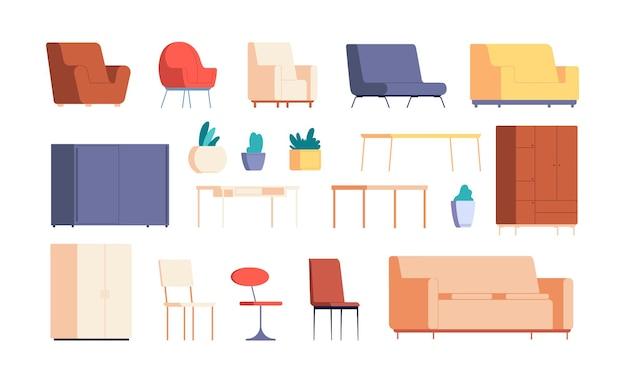 Conjunto de móveis para sala de estar