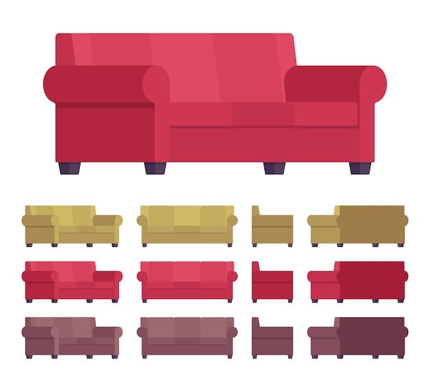Conjunto de móveis para sofás