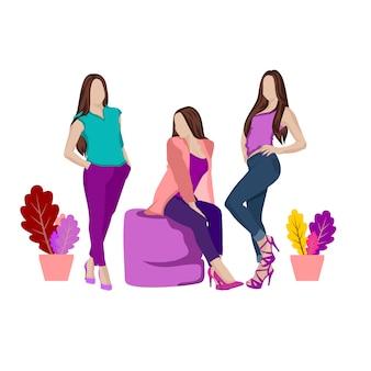 Conjunto de mulher bonita moda