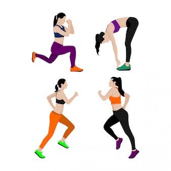 Conjunto de mulher de esportes