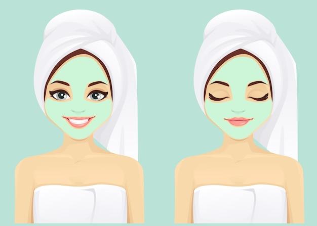 Conjunto de mulher para cuidados com a pele do rosto
