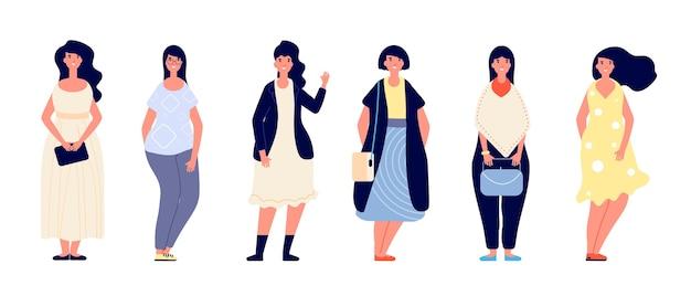 Conjunto de mulheres gordas
