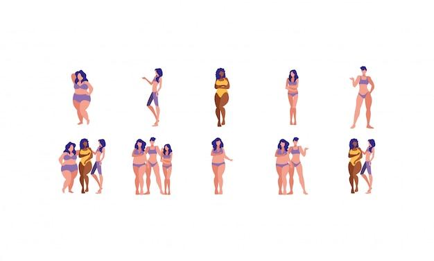 Conjunto de mulheres plus size