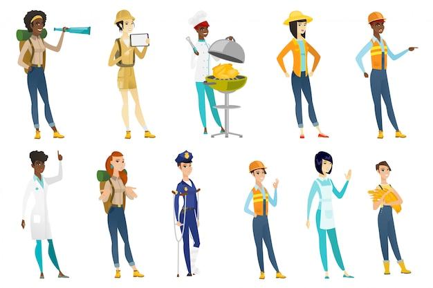Conjunto de mulheres profissionais