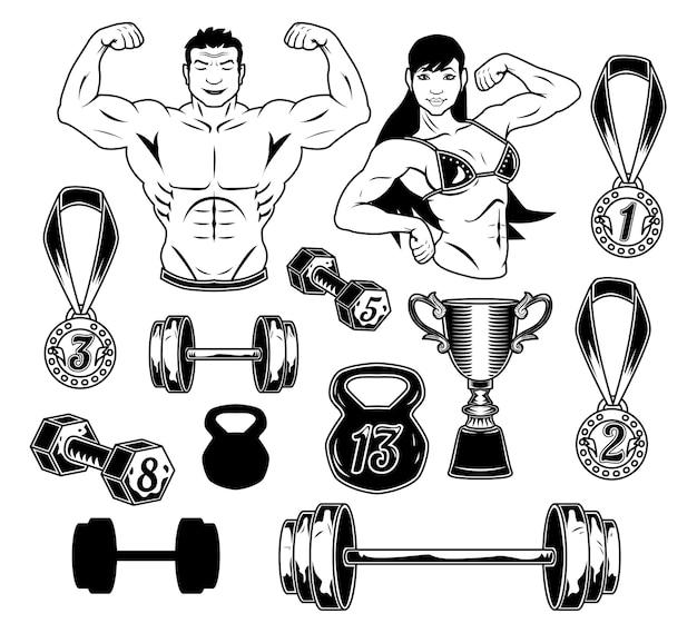Conjunto de musculação
