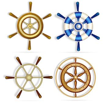 Conjunto de navio roda