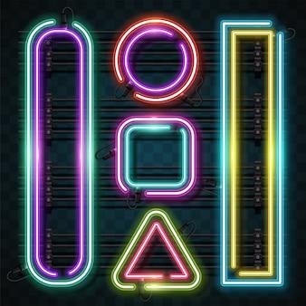 Conjunto de neon de geometria.