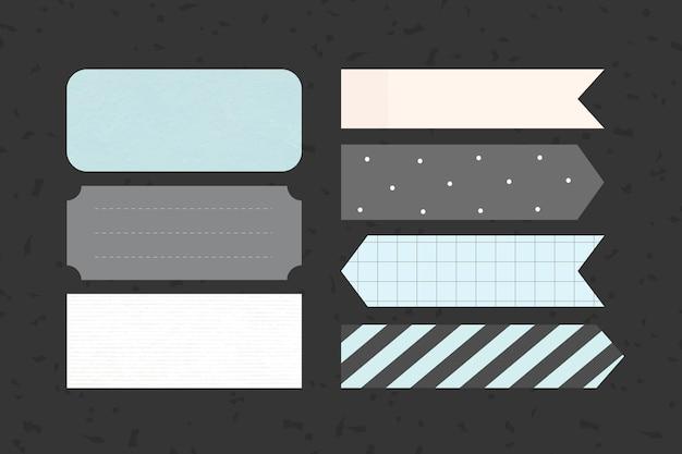 Conjunto de notas adesivas para impressão Vetor grátis