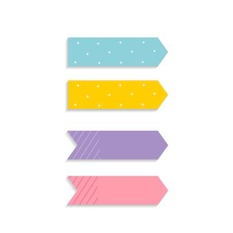 Conjunto de notas auto-adesivas coloridas