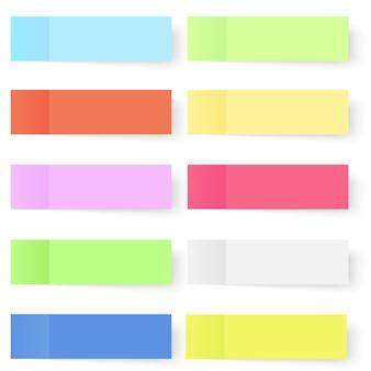 Conjunto de notas auto-adesivas de vetor colorido.