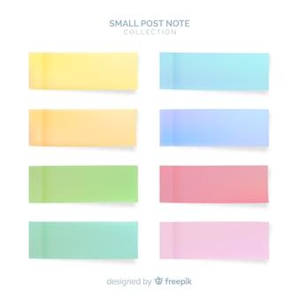 Conjunto de notas post em estilo realista