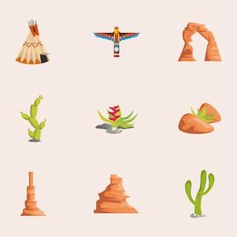 Conjunto de nove elementos oeste