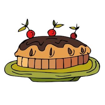 Conjunto de noz de cola com letras. mão de nozes desenhada. comida saudável em estilo cartoon.