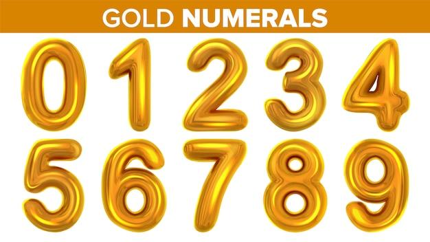 Conjunto de numerais de ouro
