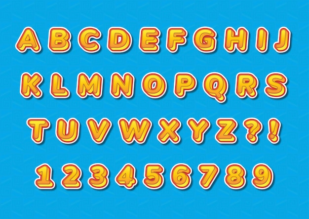 Conjunto de números de alfabetos 3d casual moderno