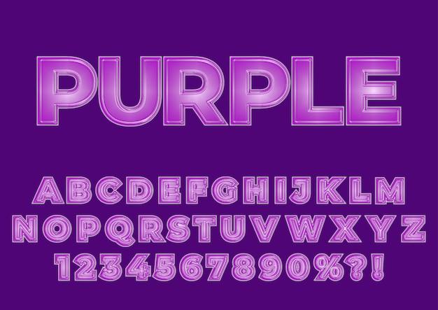 Conjunto de números de alfabetos de efeito plástico
