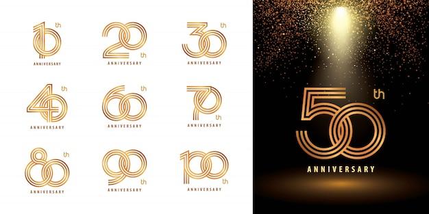 Conjunto de números de aniversário