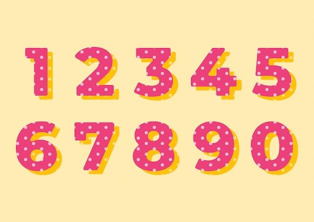 Conjunto de números de padrão de círculo de decoração