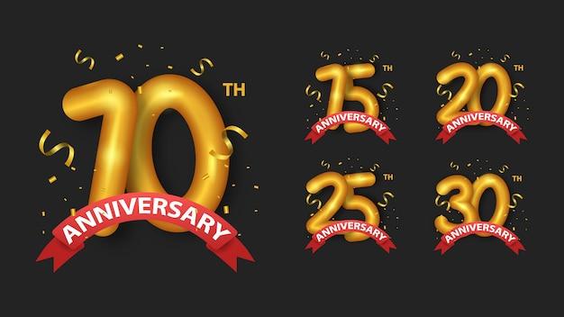 Conjunto de números dourados de aniversário