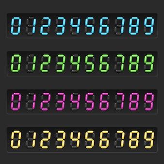 Conjunto de números eletrônicos