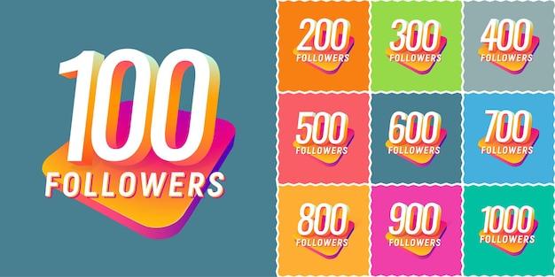Conjunto de números para seguidores